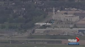 WestJet flight makes emergency landing at Calgary airport